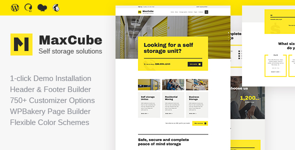 MaxCube | Self Storage Business WordPress Theme - Business Corporate