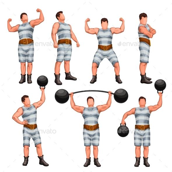 Strong Man Set - Sports/Activity Conceptual