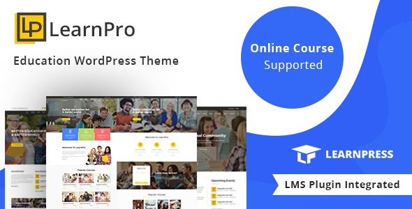 LearnPro - Education WordPress Theme - Education WordPress