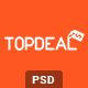 TopDeal - Clean and Modern eCommerce PSD Template - ThemeForest Item for Sale