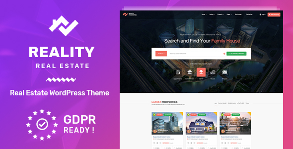 Image of Reality | Real Estate WordPress Theme