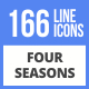 166 Four Seasons Filled Line Icons