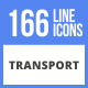 166 Transport Filled Line Icons