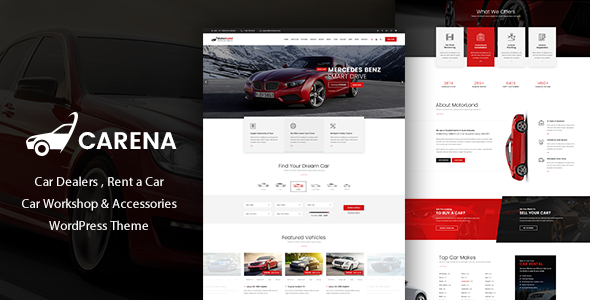 Carena - Car Dealer Rental and Automative WordPress Theme - WordPress