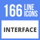 166 Interface Filled Line Icons