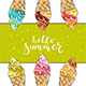 Colorful Ice Cream on Green Background - GraphicRiver Item for Sale