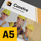 Construction Business A5 Brochure - GraphicRiver Item for Sale