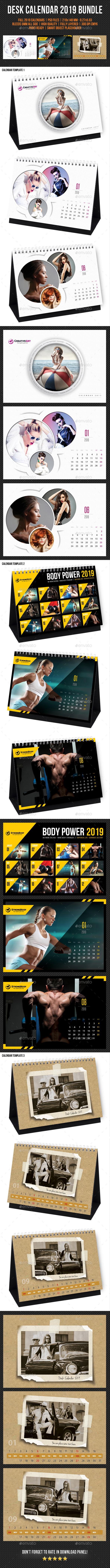 Creative Desk Calendar 2019 Bundle 09 - Calendars Stationery