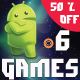 Bundle 6 Games Android  with different Gameplay