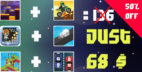 Bundle 6 Games Android  with different Gameplay            Nulled
