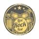Rock Festival Vector Grunge Logo Design