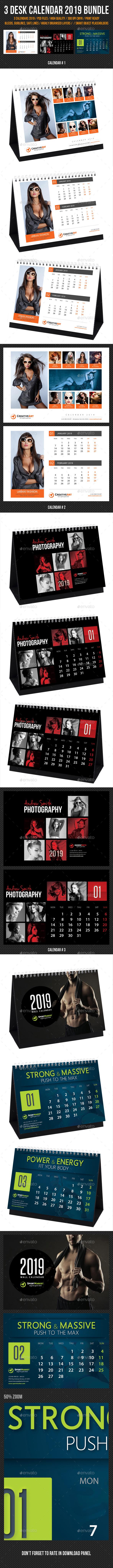 Creative Desk Calendar 2019 Bundle 04 - Calendars Stationery