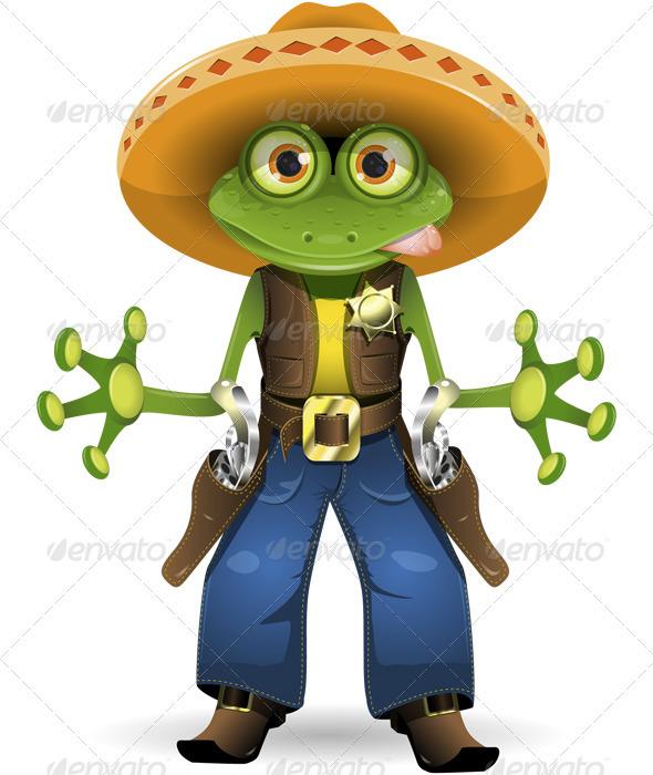 Frog sheriff - Animals Characters
