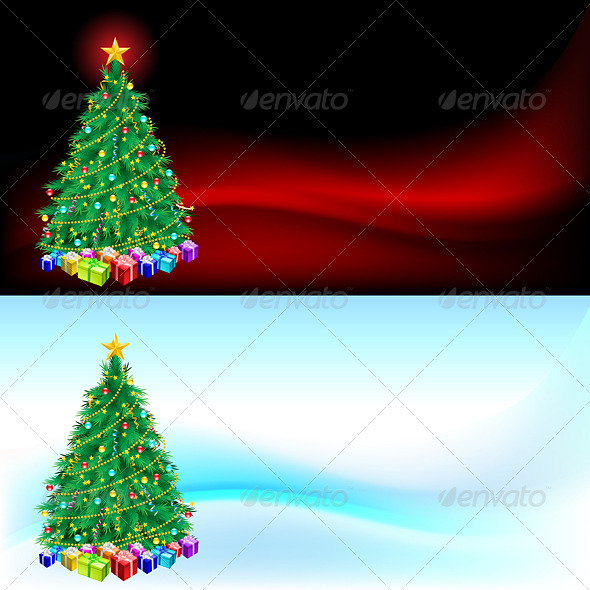 Christmas Tree and Gifts - Decorative Vectors