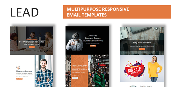 Lead - Multipurpose Responsive Email Template With Online StampReady Builder Access - Newsletters Email Templates