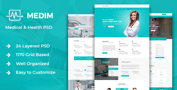 Medim - Medical and  Health PSD Template - Retail PSD Templates