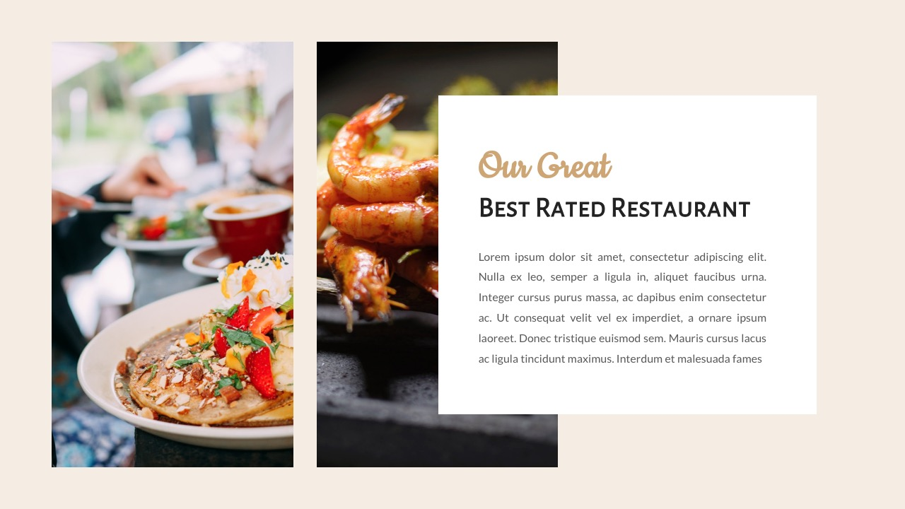 Foody - Food And Restaurant Google Slides Template