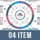 Business Circle Infographics (04 to 10 Even Steps)