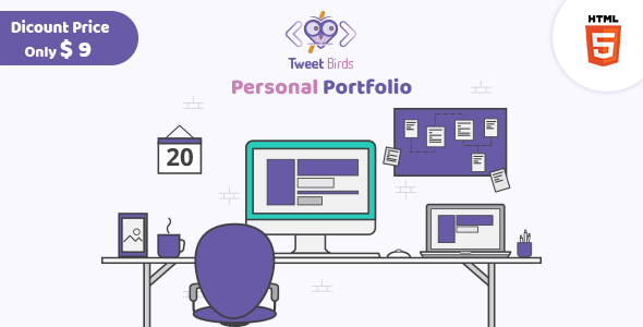 Tweetsbird - Personal Portfolio HTML Template - Portfolio Creative