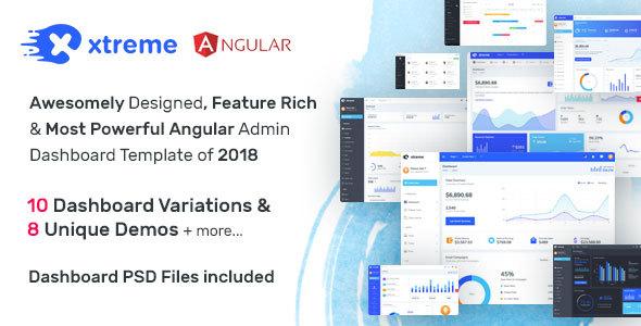 Xtreme - Angular 6 Admin Template - Admin Templates Site Templates