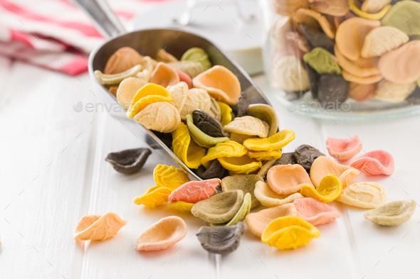 Italian rainbow pasta. - Stock Photo - Images
