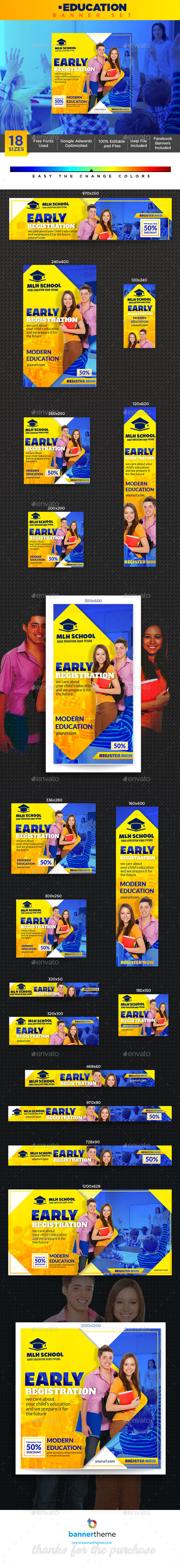 Education Banner - Banners & Ads Web Elements