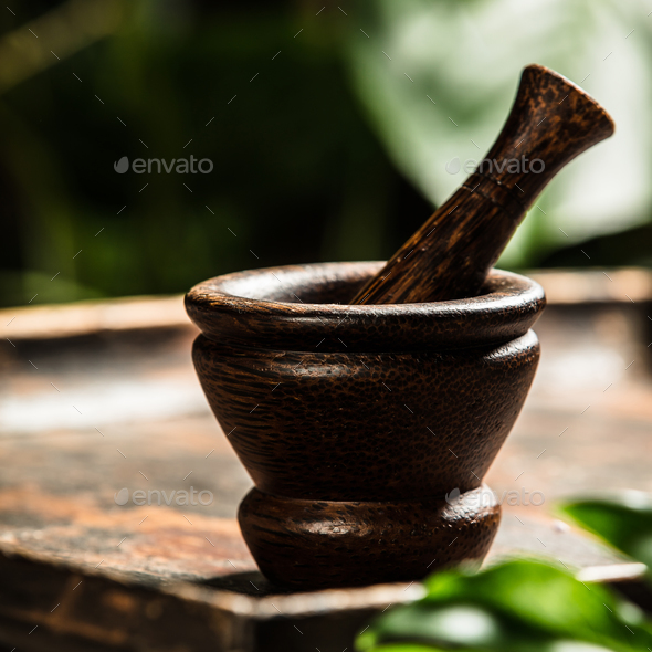 Mortar and pestle - Stock Photo - Images