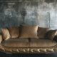 Luxurious Sofa in a Modern Interior In Dark Tones and Shades of Gold - VideoHive Item for Sale