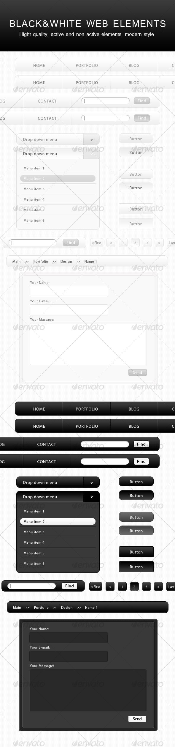 Black&White WEB Elements - Web Elements