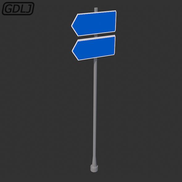 Roadside signpost 3D Models - game assets
