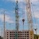 Tower Cranes Against Cloudy Blue Sky - VideoHive Item for Sale