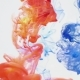 Blue and Red Ink Mixing Together Over a Pure White Background - VideoHive Item for Sale