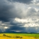 Over the Alpine Fields Are Rapidly Moving Thunderclouds.  TimeLaps - VideoHive Item for Sale