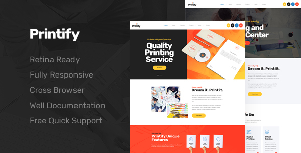 Printify - Attention Grabbing Printing Company HTML Template
