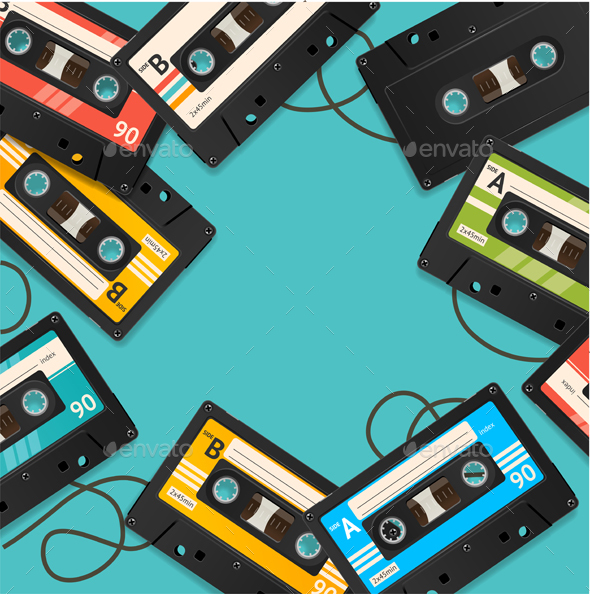 Audio Cassette Tape Background Card - Backgrounds Decorative