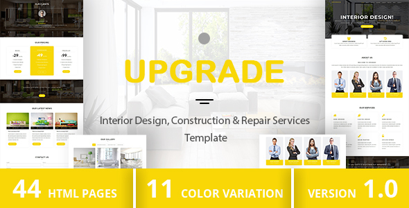 UPGRADE - Interior Design, Construction & Repair Services Template - Computer Technology