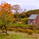 Small isolated ghostly country home fall landscape - PhotoDune Item for Sale