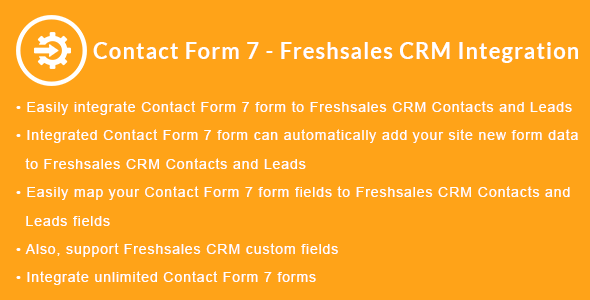 Contact Form 7 - Freshsales CRM Integration            Nulled