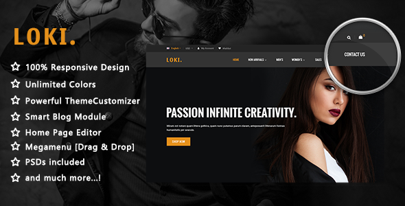 Image of Loki - Simple & Clean Fashion Responsive Prestashop 1.7 Theme