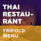 Thai Restaurant Trifold Menu 5