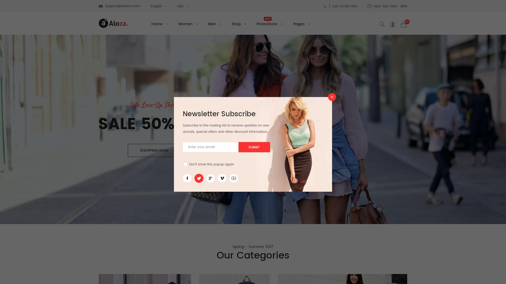 Aloza - Creative Multi-Purpose eCommerce PSD Template by magete ...