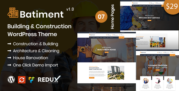 Batiment - Building & Construction WordPress Theme