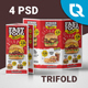 Fast Food Trifold - GraphicRiver Item for Sale