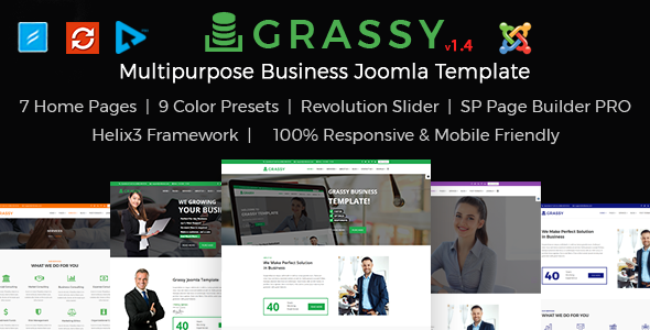 Image of Grassy Business - Business, Corporate and  Finance Joomla Template
