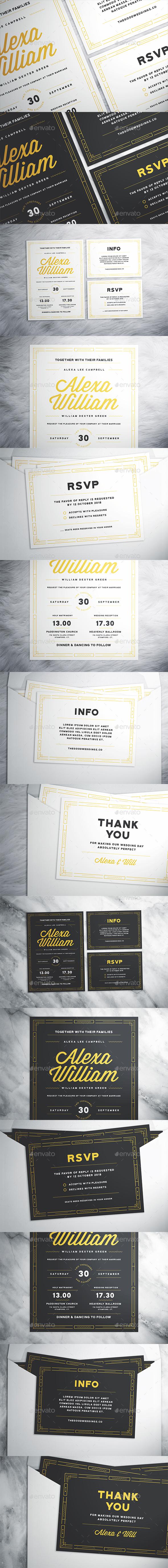 Modern Wedding Suite - Invitations Cards & Invites