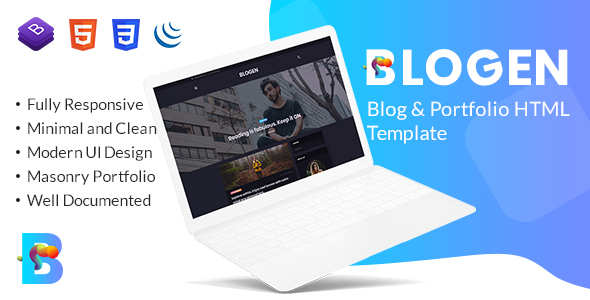 Blogen - Blog & Portfolio HTML Template - Portfolio Creative
