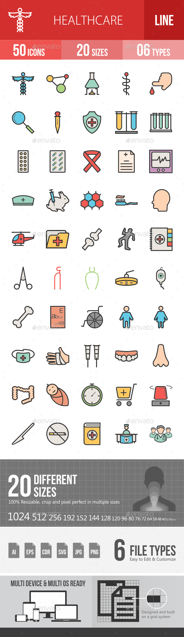 Healthcare Filled Line Icons - Icons