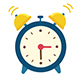 Alarm Clock Flat Design with Alpha Channel - VideoHive Item for Sale