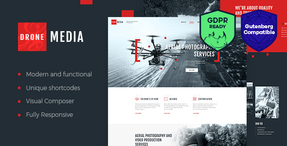 Drone Media | Aerial Photography & Videography WordPress Theme - Retail WordPress