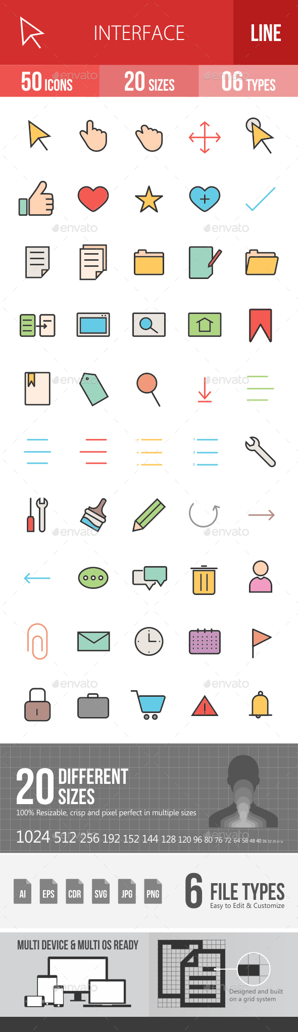 Interface Filled Line Icons - Icons